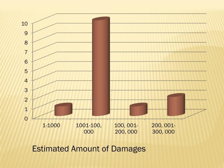 Estimated Amount of Damages