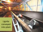 lignite conveyed into plant