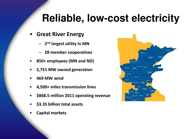 Reliable, low-cost electricity