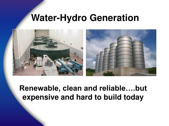 Water-Hydro Generation
