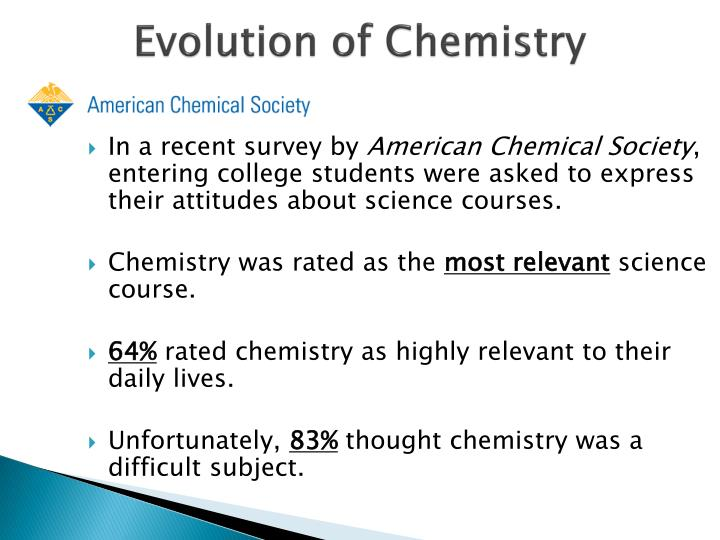 Evolution of Chemistry