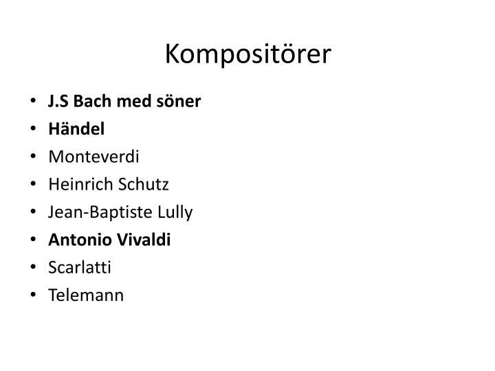 Kompositörer
