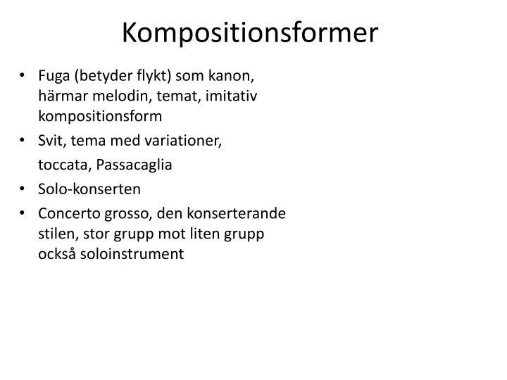 Kompositionsformer