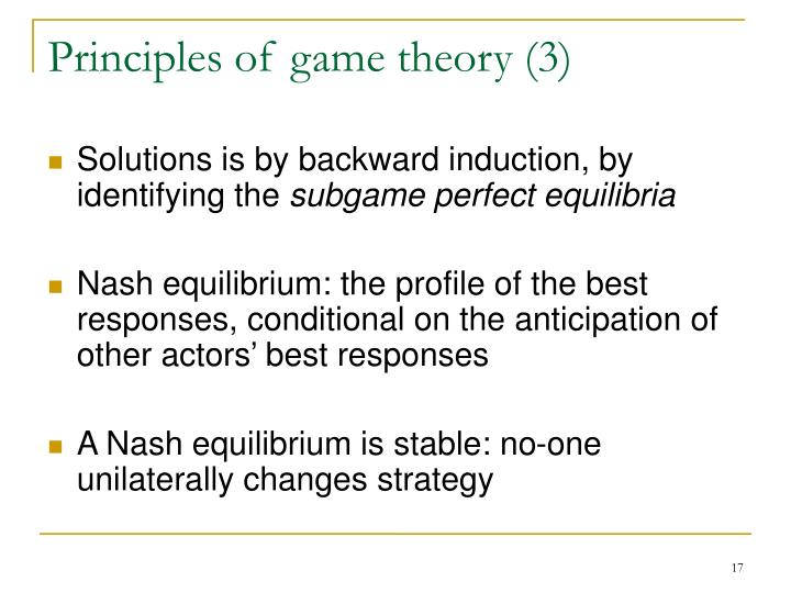 Principles of game theory (3)