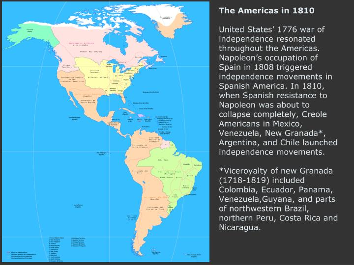 The Americas in 1810