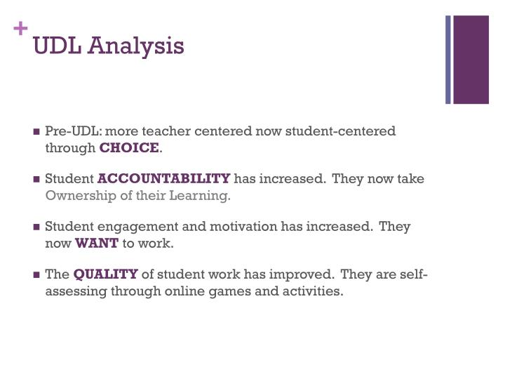 UDL Analysis
