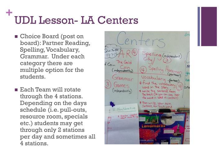 UDL Lesson- LA Centers