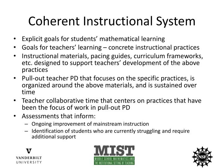 Coherent Instructional System