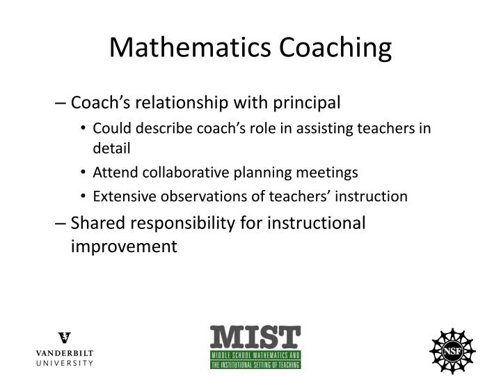 Mathematics Coaching