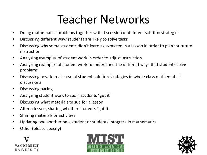 Teacher Networks