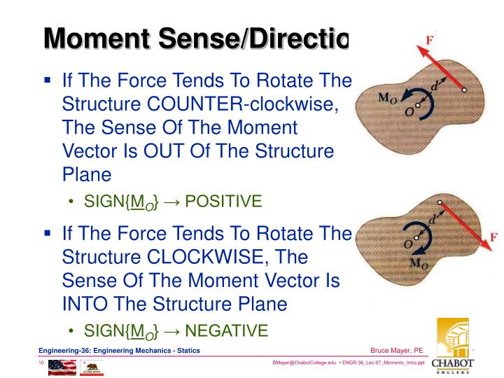 Moment Sense/Direction