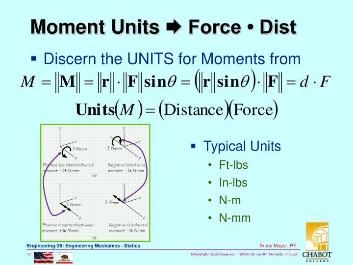 Moment Units