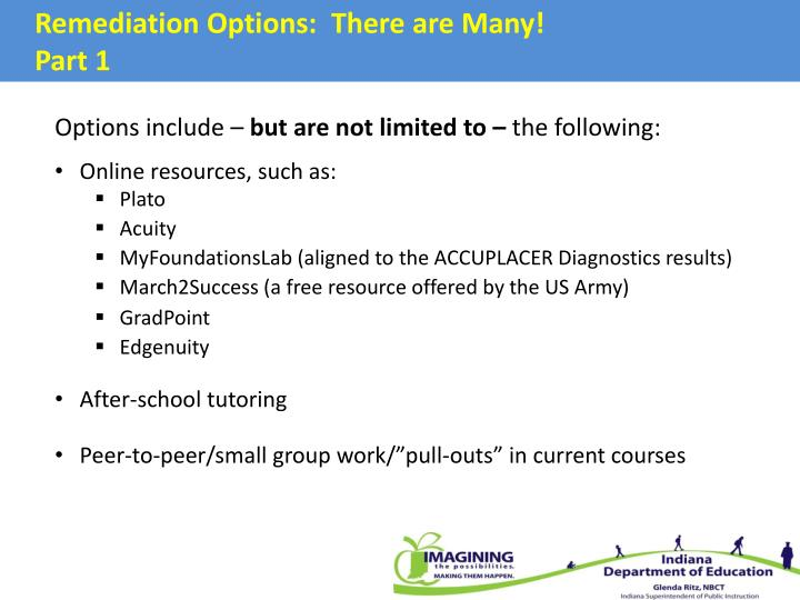 Remediation Options:  There are Many!