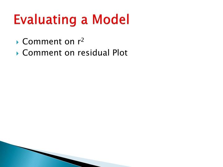 Evaluating a Model