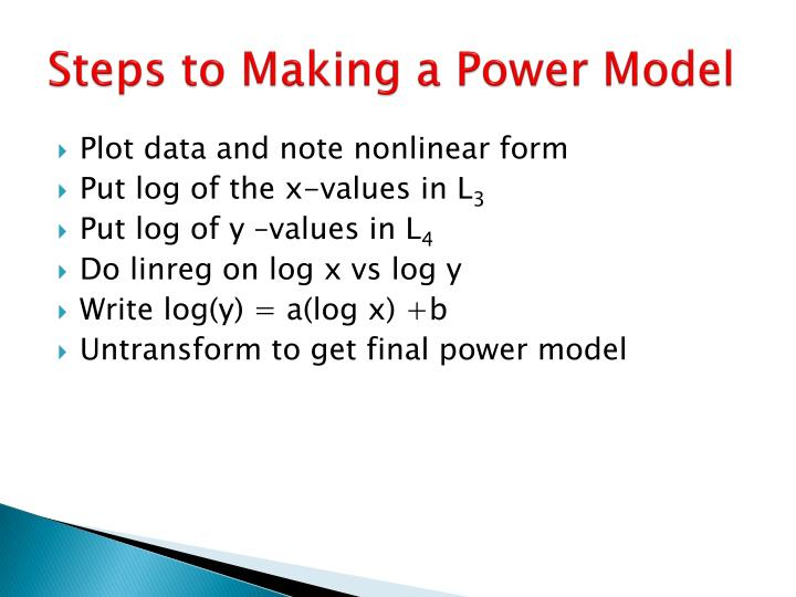 Steps to Making a Power Model