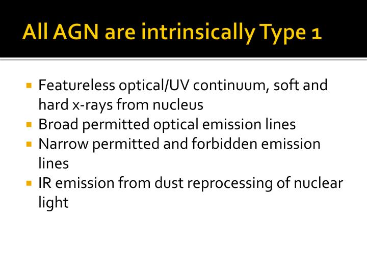 All AGN are intrinsically Type 1