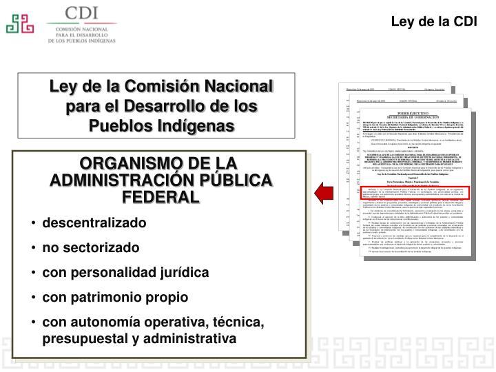Ley de la CDI
