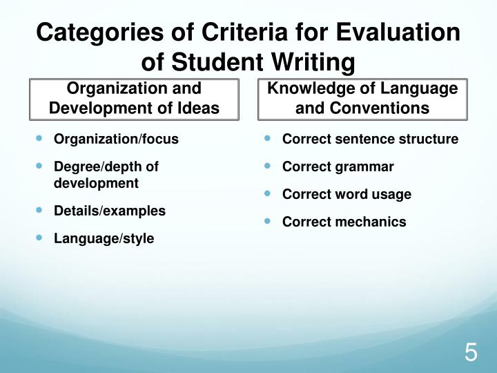 Categories of Criteria