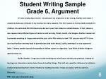 student writing sample grade 6 argument1