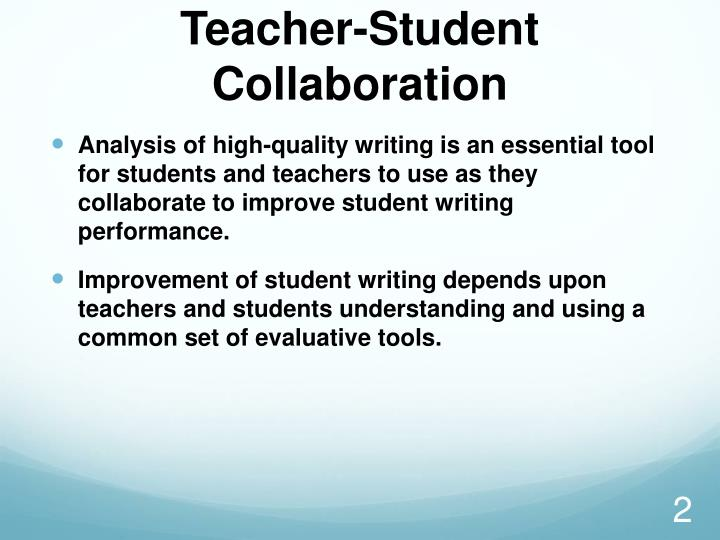 Teacher student collaboration