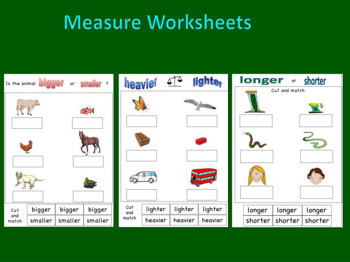 Measure Worksheets