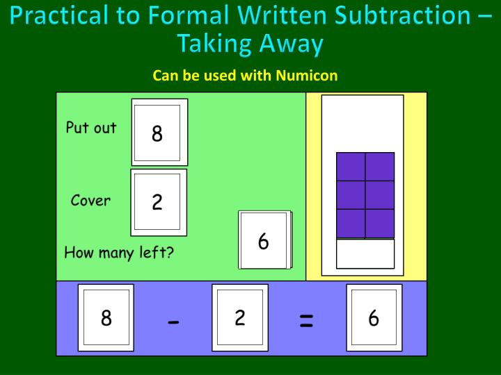 Practical to Formal Written Subtraction – Taking Away
