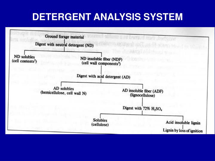 DETERGENT ANALYSIS SYSTEM