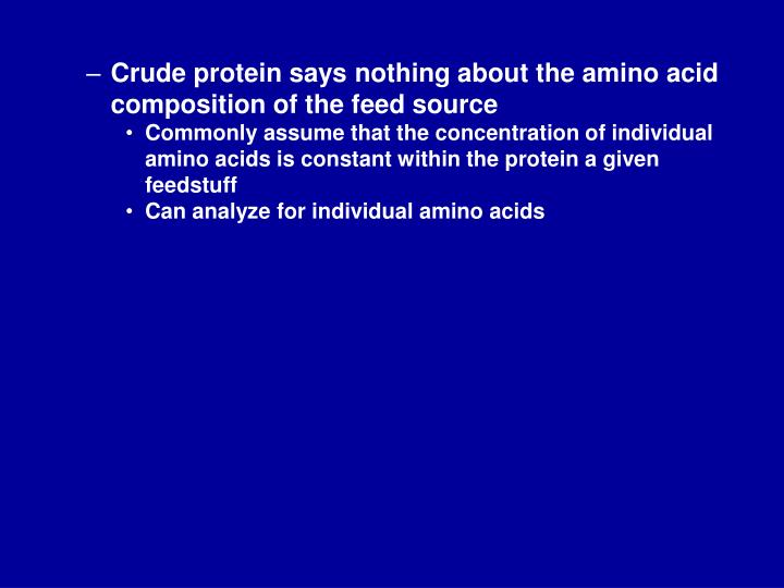 Crude protein says