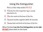 using the extinguisher