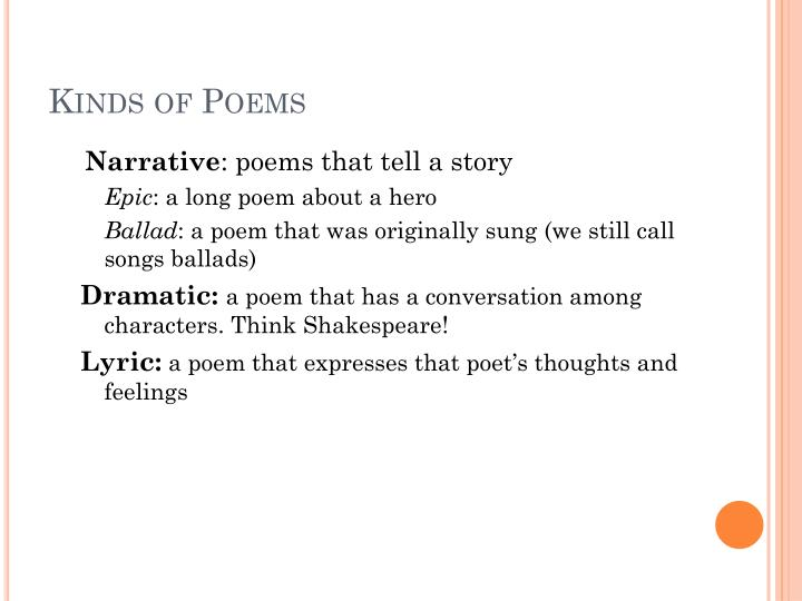 Kinds of Poems