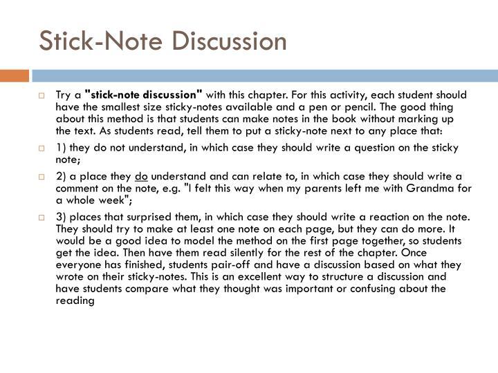 Stick-Note Discussion