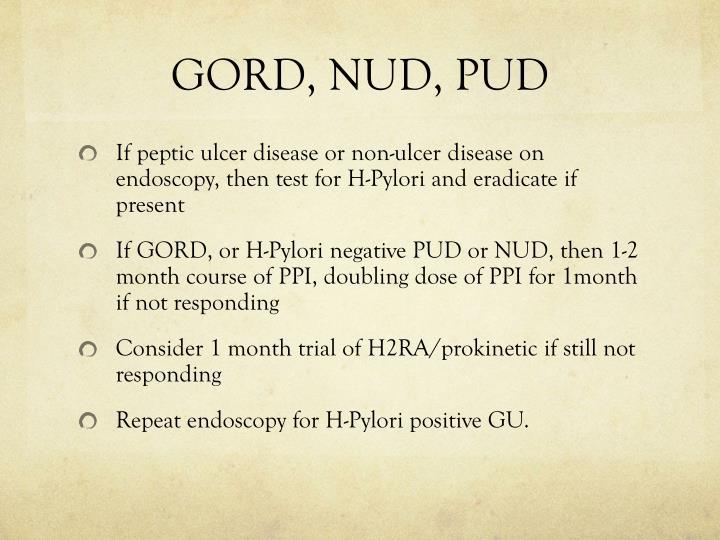 GORD, NUD, PUD