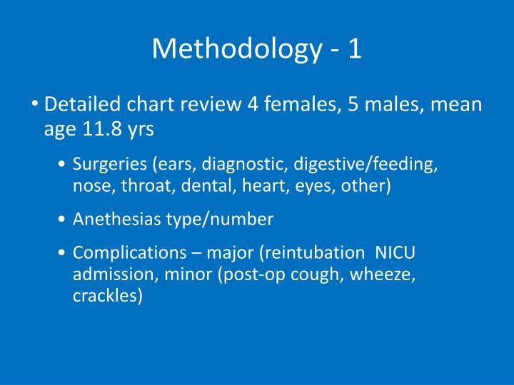 Methodology - 1