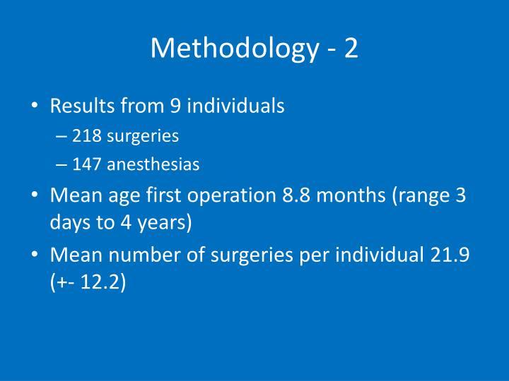 Methodology - 2