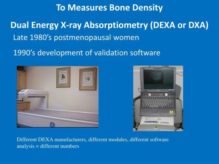 To Measures Bone