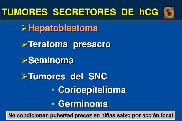 TUMORES  SECRETORES  DE  hCG