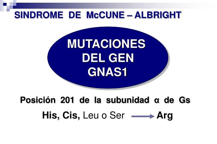 SINDROME  DE  McCUNE – ALBRIGHT