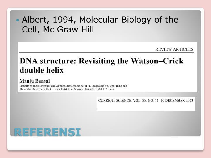 Albert, 1994, Molecular Biology of the Cell, Mc