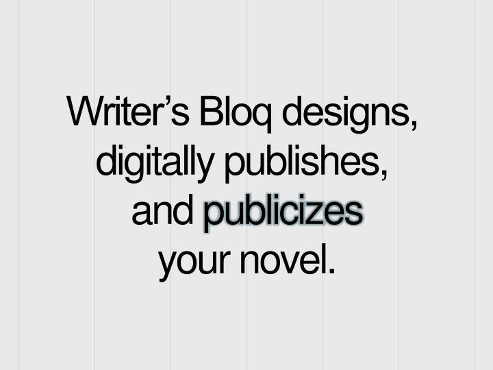 Writer's Bloq designs,