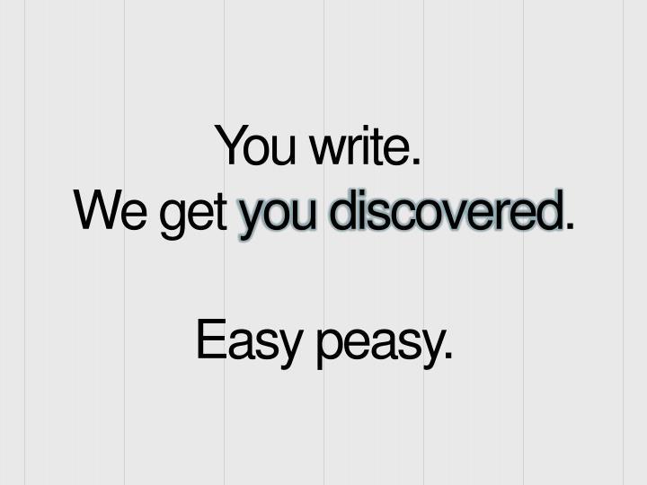 You write.