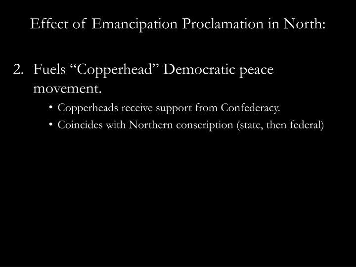 Effect of Emancipation