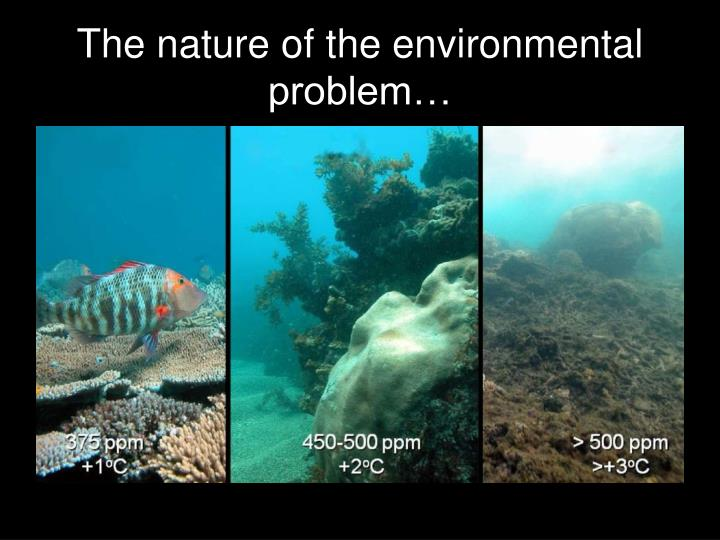 The nature of the environmental problem…