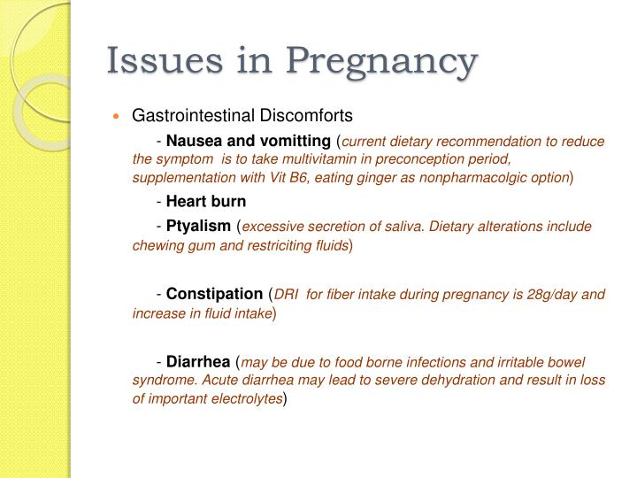 Issues in Pregnancy