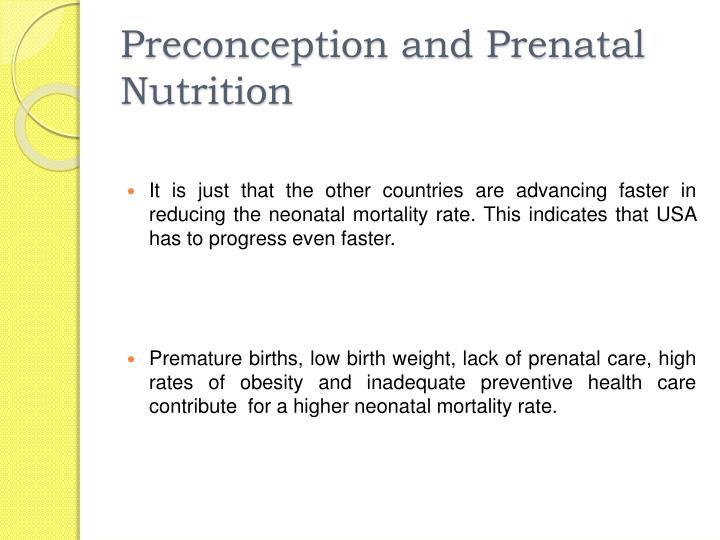 Preconception and Prenatal Nutrition