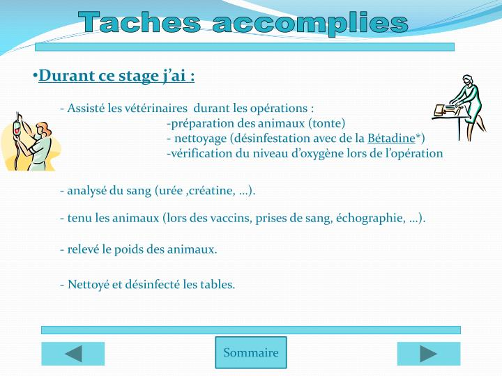 Taches accomplies