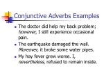 conjunctive adverbs examples