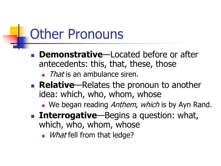Other Pronouns
