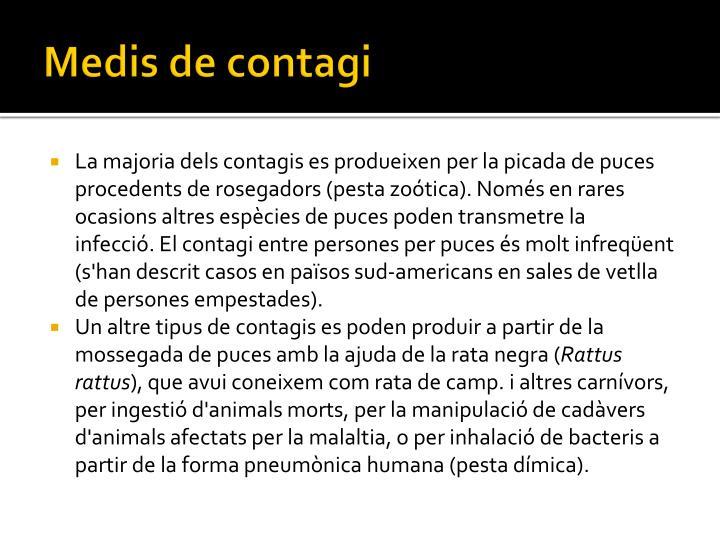 Medis de contagi