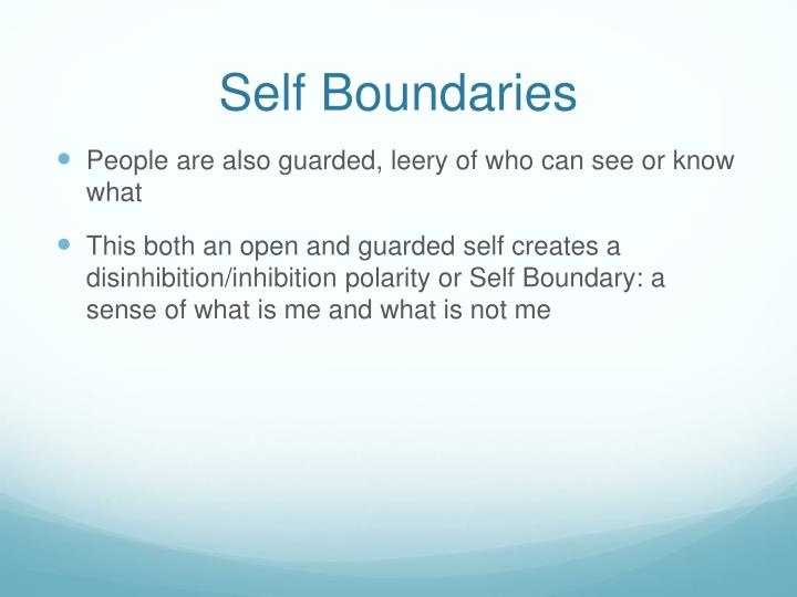 Self Boundaries