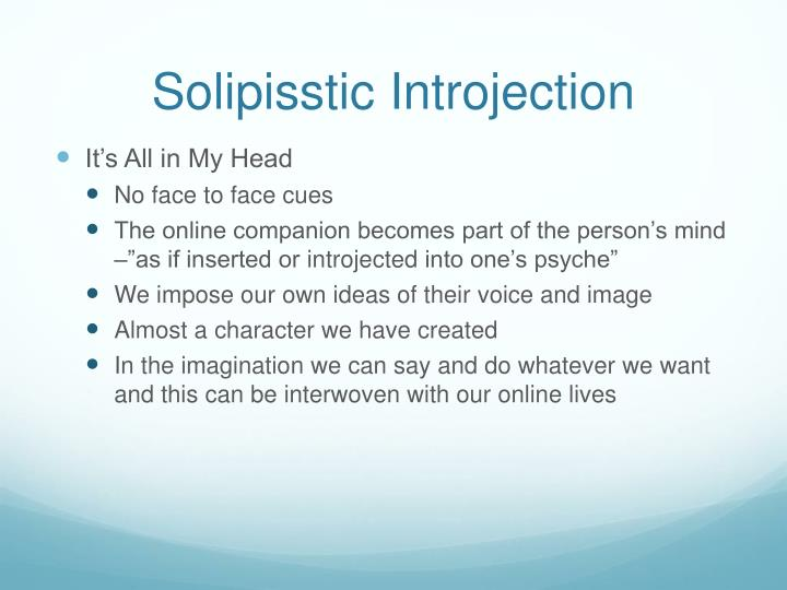 Solipisstic